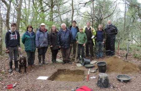 Excavating for Abberley Castle. An added bonus of evaluating the Medieval Abberley Revealed project!